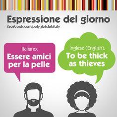 English / Italiano idiom: To be as thick as thieves