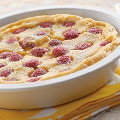 Lemon Raspberry Oven Pancake (Easy; 8 servings) #raspberry #pancake