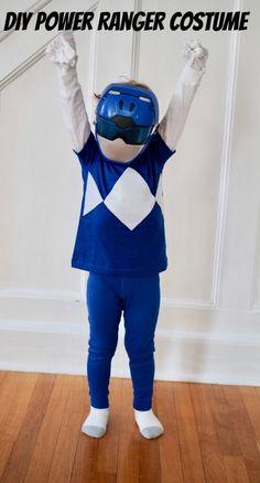 Easy DIY Power Ranger Costume - #chirpingdiycostumes Power Rangers Halloween Costume, Movie Halloween Costumes, Toy Story Costumes, Halloween 2020, Power Rangers Mask, Power Ranger Party, Power Ranger Birthday, Kids Costumes Girls, Girl Costumes