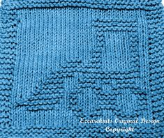 Knitting Cloth Pattern - BUCKET LOADER - PDF