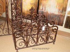 French Country Fleur De Lis Magazine/Firewood Rack