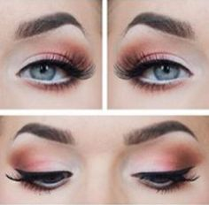 Eye make up - A subtle pink touch to that wedding dress or saree.