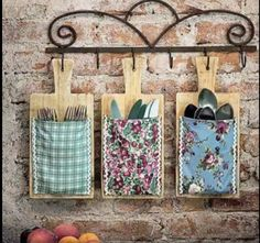 cutting board cutlery holder   kitchen  wall