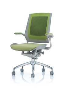 """The Bodyflex Task Chair is unique, featuring angled suspension """"dampers"""" the seat guides the user's back onto the strengthened lumbar area of the ribbed neoprene back that holds air in its flutes to provide a cool experience even in the warmest of environments."""