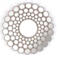 Concave Circles Wall Mirror, 31 in. | Kirkland's