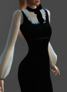 Velvet Victoriana Dress | Gucci | 4 coloursMy version of this dress from the Gucci 2016 AW RTW collection. This dress is a retexture of @theslyd's Sanne Dress (Thanks!) It comes in 4 colour...