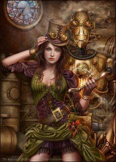 cool steampunk styled cg art