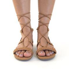 Tie It Up Sandals In Cognac