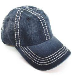 Dark Denim Olive & Pique Baseball Hat