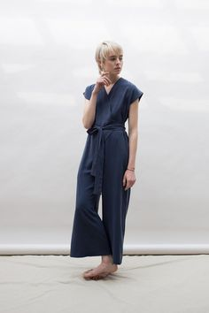 Wraparound Jumpsuit by laurenwinterco on Etsy