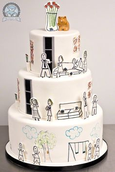 I Love Cake Design Puntata 3 : 1000+ ideas about Cartoon Cakes on Pinterest Cakes, Flag ...