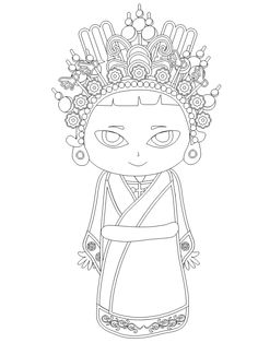 72 Best Chinese Coloring Pages Images In 2016 Chinese