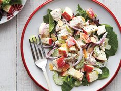 Honey-Lemon Chicken Salad | Take your green salads to the main dish level by loading up a hearty bed oflettuce with chicken, fresh veggies, and flavorful cheeses. Essentially, never eat a boring salad again. These huge salads are a filling solution to the dinnertime dilemma and provide a bowl that is bursting with great flavor, high levels ofnutrition, and beautifulcolor.