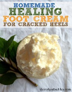 How to Soften Dry Cracked Feet with Shea Butter & Tea Tree - beautymunsta - free natural beauty hacks and more! - How to Soften Dry Cracked Feet with Shea Butter & Tea Tree – beautymunsta – free natural beauty - Homemade Foot Cream, Homemade Body Butter, Dry Cracked Heels, Cracked Feet, Cracked Heel Balm, Unrefined Shea Butter, Homemade Moisturizer, Natural Beauty Tips, Homemade Beauty Products