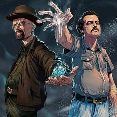 Walter White and Pablo Escobar Breaking Bad Narcos