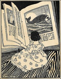 Dorothy Lathrop (American 1891-1980) Hitty, Her First Hundred Years by Rachel Field. Reading Jonah and the Great Fish, 1929.
