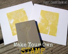 How cool!!  Make your own stamp!  #stamp #DIY