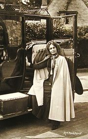 In 1911, for instance, the wealthy American socialite, Mary Dodge, gave Emmeline Pankhurst of the English Women's Social and Political Union a new Wolseley that allowed her to travel to suffrage events with not only her luggage but also with WSPU literature and other materials that proved helpful when she delivered her speeches.