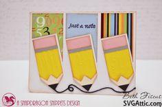 Beth's Beauties: Pencil trio card using Totally Black #trendytwine
