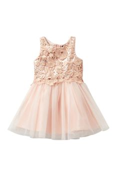 506aab69e755 Glazed Lace   Tulle Dress (Little Girls) by Zunie on  nordstrom rack Tulle  Dress