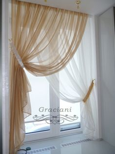 Why buy it when you can make it yourself? Find step-by-step instructions for making your own home decor, wedding decorations, and crafts including projects for . Home Curtains, Curtains Living Room, Diy Curtains, Colorful Curtains, Window Decor, Home Decor, Curtain Styles, Curtain Decor, Chic Home Decor
