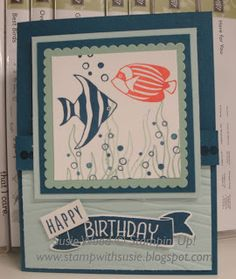 Stampin' Up!- Check out these little fishy from the 'Seaside Shores' set!  SO CUTE!