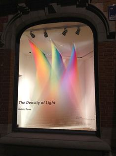 """Thread installations created by Mexican artist Gabriel Dawe. The ornate layering and depth of colour created using just regular sewing thread is astounding. I love the many rainbow pieces in Gabriel's """"Plexus"""" series but find myself particularly drawn to the installations of three or five colours and especially the very high ones and those that wrap around staircases."""