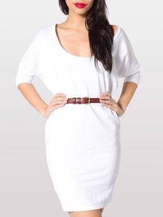 Piqué Dolman Sleeve Dress | Mini Long Sleeves | Women's Dresses | American Apparel