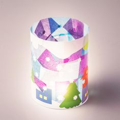 Get your kids in on the crafting with these DIY tissue paper luminaries.
