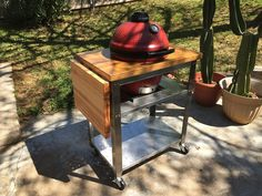 Quick and easy table for Joe Jr. - Do-It-Yourself - Kamado Guru Table Top Bbq, Grill Table, A Table, Grill Island, Backyard Bbq, Patio, Kamado Joe, Bbq Area, Kettle