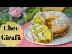 Chec Girafă || 💛 Dulcinele 💛 - YouTube Giraffe Cakes, Bagel, Biscotti, Bread, Color Marble, Sweet, Youtube, Food, To Sell
