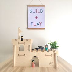Handmade wooden toy castle designed and made in Australia from sustainably sourced plywood. Perfect for pretend play. Wooden Toy Castle, Handmade Wooden Toys, Bravest Warriors, Warrior Princess, Pretend Play, Good Day, Your Child, Perfect Place, Playroom