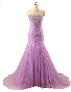 Formal Evening Dress Trumpet / Mermaid Sweetheart Court Train Organza with Beading / Pleats 5266306 2016 – $149.99