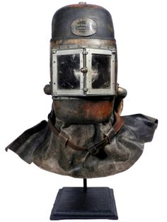 Shop vintage decorative objects, including sculptures, figurines and other collectibles from the world's best furniture dealers. Smoke Mask, Steampunk Armor, Mask Images, Armor Clothing, Scuba Diving Equipment, Full Face Helmets, Novelty Items, Museum Collection, Dieselpunk