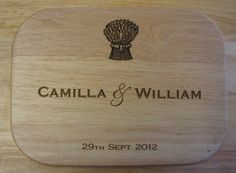 Engraved Wooden Personalised Chopping Boards for weddings & special occasions