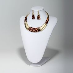 Leopard Print Collar Necklace Set