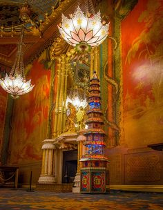 Pagoda in the Royal Pavilion's Music Room. by Royal Pavilion & Brighton Museums, Sussux, UK via Flickr