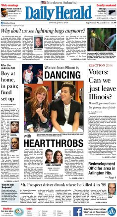 Daily Herald front page, July 8, 2014; http://eedition.dailyherald.com/