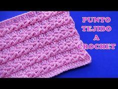 Punto a crochet para prendas de invierno aplicando el punto Estrella  con puntos altos - YouTube