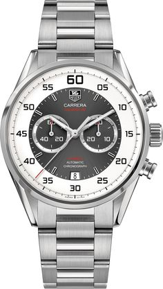 CARRERA Calibre 36Automatic Flyback Chronograph43mm Anthracite sunray effect Steel bracelet | TAG Heuer