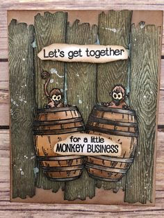 Monkey Business-Creative Vision Stamps Showcase