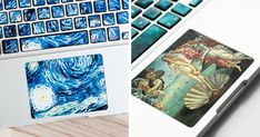 Want to know the key to a good-looking laptop? Then check out these awesome keyboard stickers by creative duo Anna and Sebastian, who will help you turn your boring old laptop into nothing less than a famous work of art. Keyboard Stickers, Great Wave Off Kanagawa, Amazing Art, Awesome, Bored Panda, Vincent Van Gogh, Natural Texture, How To Look Better