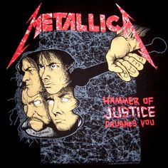 "T-Shirt Design: Metallica, ""Hammer of Justice Crushes You"" by Pushead"