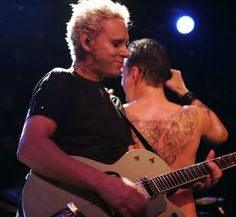 Dave Gahan & Martin Gore of Depeche Mode during Touring the Angel