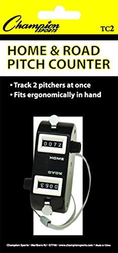 Champion Sports Tally and Pitch Counters (Black)