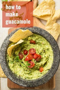 Creamy homemade guacamole is easy to make and absolutely delicious! Choose from one of 4 flavors: classic, mango, chipotle, or roasted corn poblano. This Mexican dip is perfect as a party appetizer, for stuffing in tacos, or spreading on sandwiches! #guacamole #mexicanrecipes #appetizers Dairy Free Appetizers, Appetizers For Kids, Yummy Appetizers, Appetizer Recipes, Wedding Appetizers, How To Make Guacamole, Homemade Guacamole, Vegetarian Mexican, Mexican Food Recipes