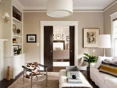 Custom Millwork + Pocket Doors. Find MORE Ideas: HGTV Designers' Portfolio >> http://www.hgtv.com/designers-portfolio/room/eclectic/dining-rooms/10056/index.html#/id-9925/style-transitional?soc=pinterest