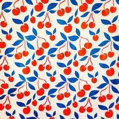 Pattern design - Cherries #cherries #fruit #kitchen