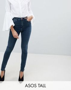 Buy ASOS DESIGN Tall Ridley high waist skinny jeans in aged blue wash at ASOS. With free delivery and return options (Ts&Cs apply), online shopping has never been so easy. Get the latest trends with ASOS now. Tall Jeans, Pop Fashion, Fashion Trends, Latest Trends, Asos, Skinny Jeans, High Waist, Blue, Shopping