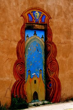 Painted Door in Sante Fe, NM | Flickr - Photo Sharing! http://www.travel4corners.us